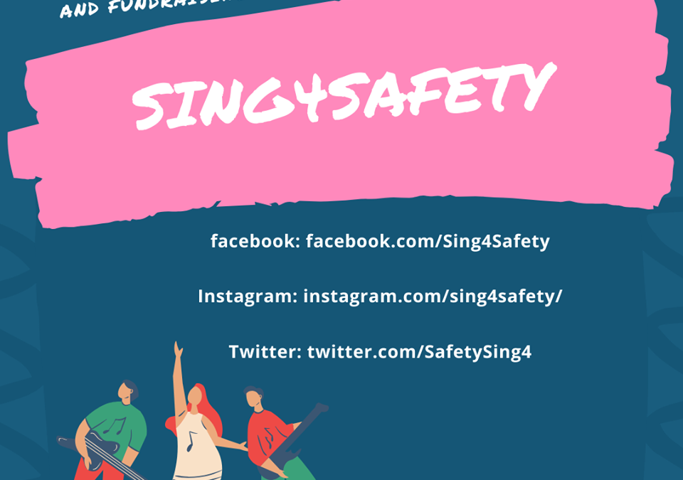 Live video recording for Sing 4 Safety domestic violence campaign during Covid-19 quarantine
